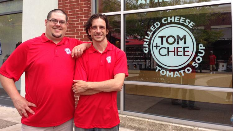 Trew Quackenbush and Corey Ward, two of the co-founders of Tom+Chee.