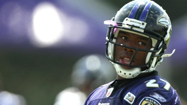 Ray Rice, pictured during the Baltimore Ravens training camp in 2009.