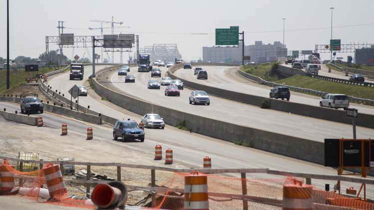 """Starting Tuesday, Sept. 2, I-65 north and south will be limited to two lanes each in direction in """"the big squeeze."""""""