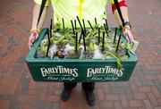 Vendors sold mint juleps, the Kentucky Derby's official drink, throughout Kentucky Oaks and Derby days.
