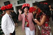 Proving that Derby hats aren't only for the ladies, these men showed off their hats on Derby Day.