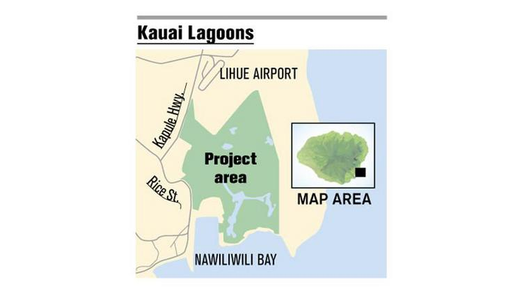 The Kauai Lagoons project is located near the Lihue Airport.