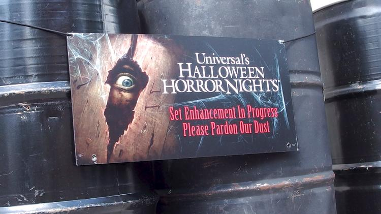 "Halloween Horror Nights prep goes way beyond the usual ""please pardon our dust"" public service announcement."