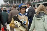 Robby Albarado came off the track after his ride on Golden Soul.