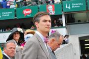 Ryan Jordan, general manager of Churchill Downs racetrack, stood near the track on Derby Day.