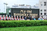 """""""My Old Kentucky Home"""" was played by the University of Louisville Marching Band."""
