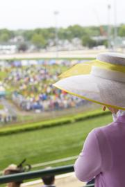 Several beautiful hats could be seen on Millionaires Row.