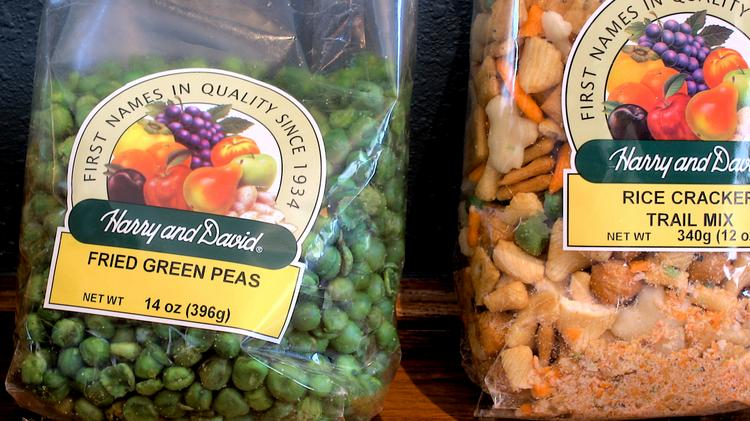 Harry & David specializes in selling a variety of food-based gift packs, which may include snack bags.