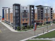 Developers have created renderings for an apartment complex that will be part of Newport on the Levee's second phase.