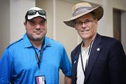 Dustin Eichten, Richard Goldman (Executive Director of St Augustine, Ponte Vedra and the Beaches Vistors and Convention Bureau) at The Players Championship Thursday, May 9.