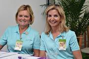 Marianne Russo and Sandy Dorsey at The Players Championship Thursday, May 9.