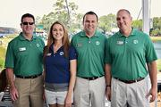 Mike Mahoney, Lauren Greer, Billy Steephs and Joe Pound at The Players Championship Thursday, May 9.