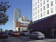 The 1481 Post St. proposal is shown from along Geary BLVD., looking West.