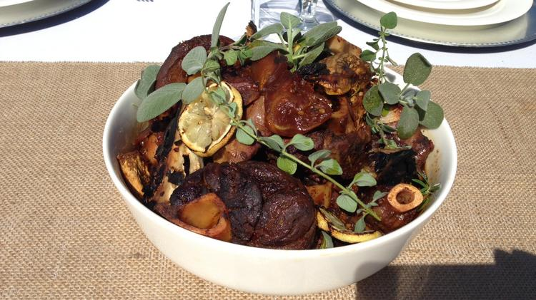 The menu for the second farm-to-fork dinner on the Tower Bridge has been released. It features braised lamb shanks.