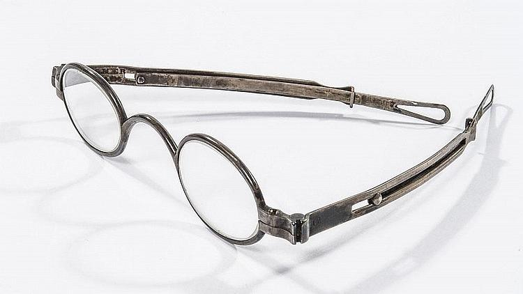 Abraham Lincoln's gray metal eyeglasses, pictured here, are expected to sell at auction for up to $15,000.