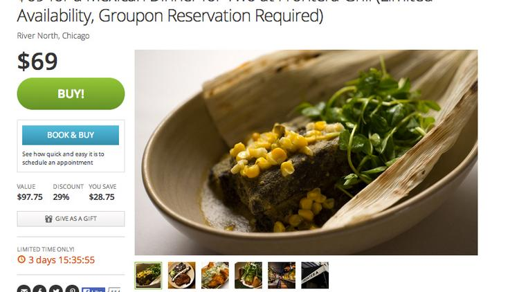 Groupon Launching Time Specific Restaurant Deals Chicago
