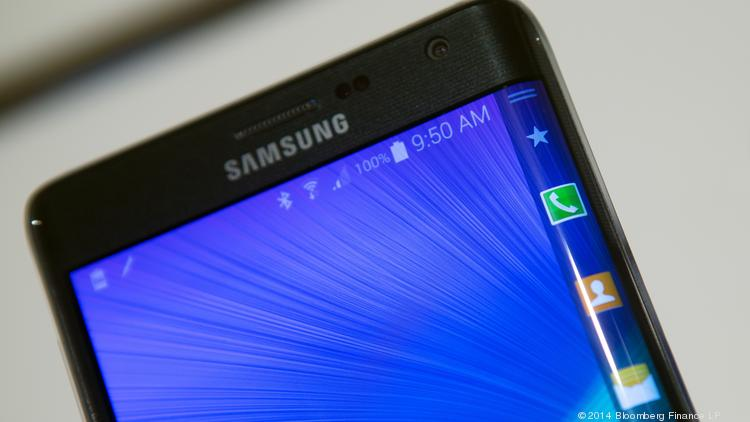Samsung's Galaxy Note Edge, a phablet.