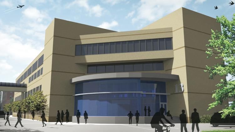 A rendering of Sinclair's new UAS facility.