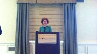Federal Reserve Bank of Cleveland CEO Loretta Mester at Pittsburgh's Omni William Penn Hotel.