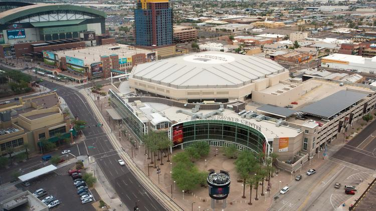 huge selection of db2b0 f7565 Councilman pushes for dual Phoenix Suns-Coyotes arena ...
