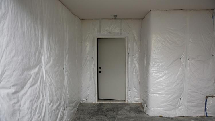 Safe rooms for weathering tornadoes and other disasters are accessible in every basement. Located under the front porches, they are lined and topped by 8-inch-thick concrete walls.
