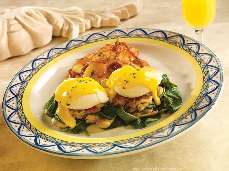 Mother's Day brunch menu items include things like crab and eggs from Bravo Cucina Italiana