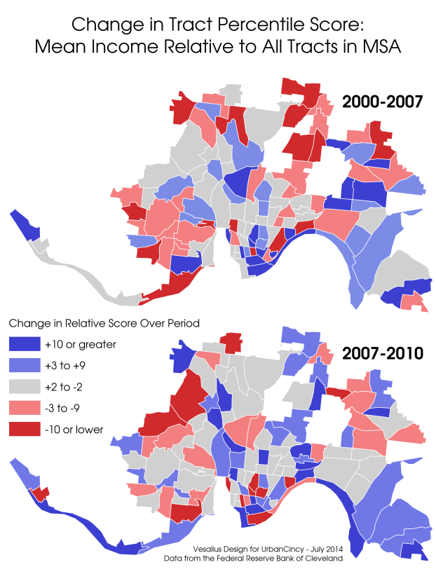 Chart Of The Day Heres Why Cincinnatis Gentrification Process Is - Cincinnati-on-us-map