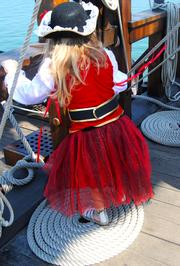 Even little pirates wanted to tour El Galeon.
