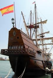 El Galeon was open to tours at Port Canaveral through May 12.