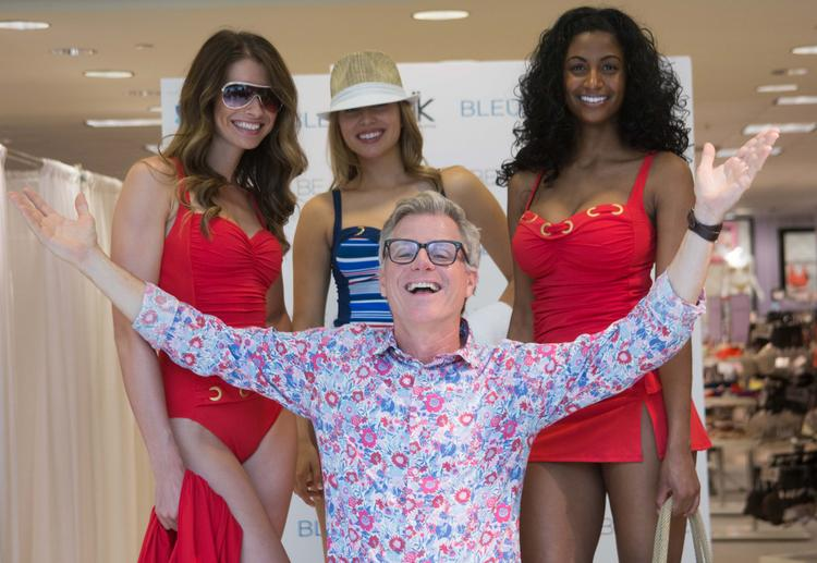 Designer Rod Beattie is pictured here with models at the Belk Bleu/Rod Beattie Swimsuit Event at Belk SouthPark.