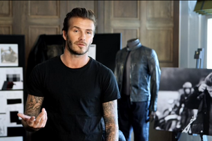 David Beckham's new field? Fashion, of course (Video)