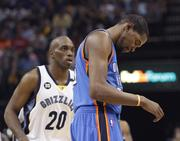Kevin Durant has been the focus of the Grizzlies defense throughout the series.