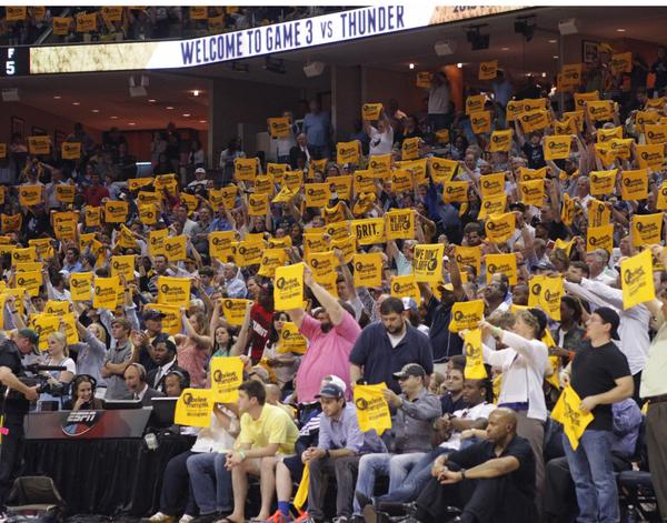 Grizz fans show their support