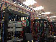 Netronome's testing area where appliances network appliances are put through the paces. On this day the company was testing Sourcefire appliances that were assembled in Netronome's facility.