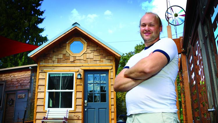 Kol Peterson operates the world's first tiny house hotel, a collection of miniature cottages on wheels along Northeast Alberta Street.