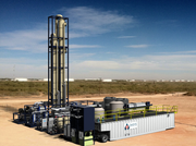 A rendering of Oasys Water's Membrane Brine Concentrator system, which will be deployed in West Texas oil fields in 2015.