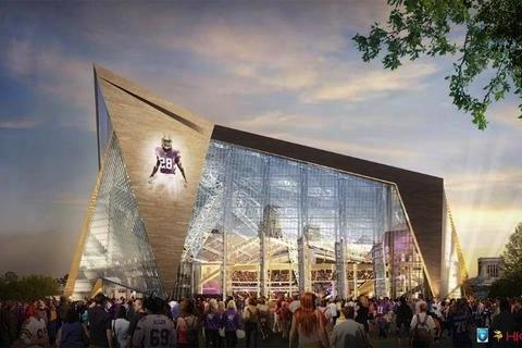 A rendering of the Vikings' new stadium.