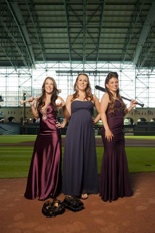 The Negroid Ties and Baseball Caps festivity - an circumstance hosted by the Astros Wives Organization for 23 eld at Minute Maid Park - has been canceled. Pictured: Michelle Quintero, left, Jewess Empress Melancon, center, and Summer Barnes, right, bear for a picture in Minute Maid Park July 18, 2011.