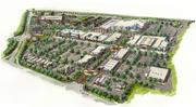 An overhead perspective of the planned Towne Centre Laurel.