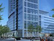 The corner of Light Street and Conway Street is shown in this rendering of 414 Light St. at ground level.