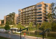 The Waterway Lofts' top corner unit overlooking Waterway Square, along The Woodlands Waterway in Town Center, will also be on the tour. Architect: Ziegler Cooper Architects