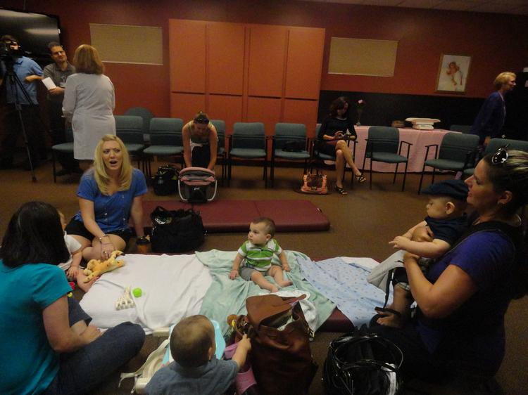 Central Florida mothers gathered at Florida Hospital's lactation center for the grand opening of the Milk Depot.