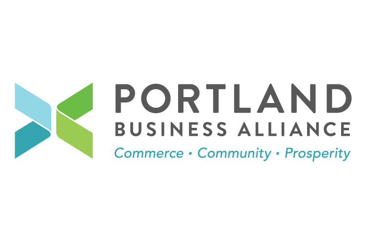 The Portland Business Alliance unveiled its new logo at Tuesday's annual event.