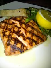 Monterey Bay salmon and Opah with vegetable medley