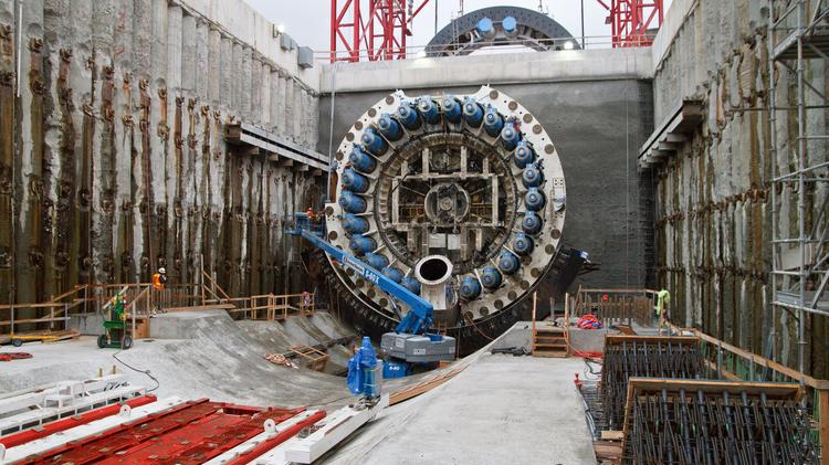 Seattle Tunnel Partners says construction will begin in late May on the ​120-foot-deep shaft that it will use to access and repair damage to Bertha.