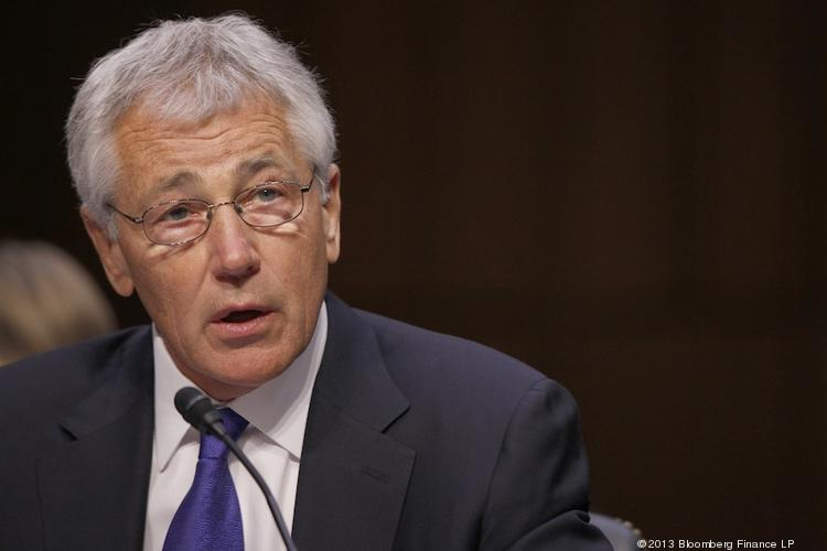 U.S. Defense Secretary Chuck Hagel, seen in this April file photo, said Tuesday that employees at Navy shipyards, including the Pearl Harbor Naval Shipyard, are excepted from the 11 days of furloughs that other civilian Defense Department employees must take.