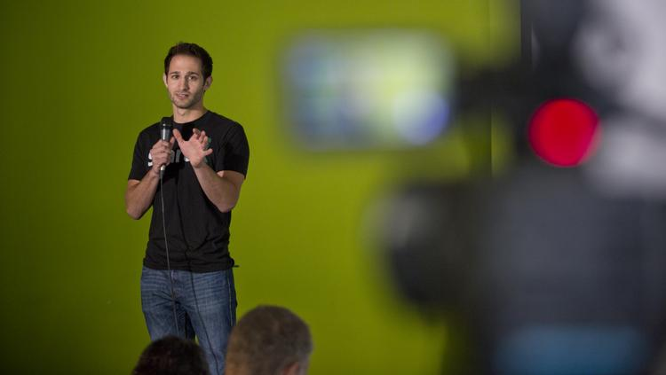 StartX CEO Cameron Teitelman hosted the Stanford-affiliated accelerator's first Demo Day in its new home on Tuesday.
