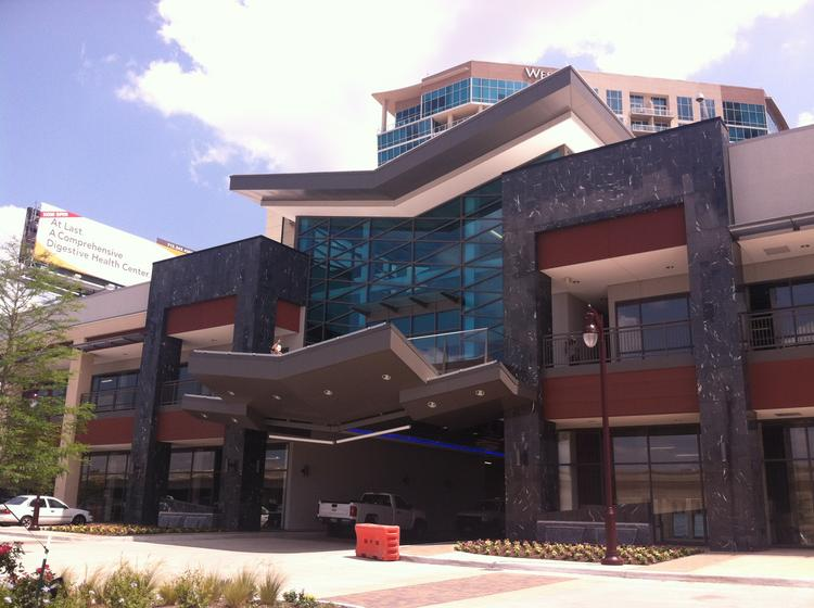 Mixed-use retail and office development Gateway Memorial City is nearing completion.