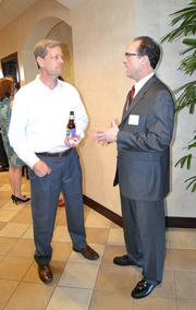 Dan Peare, left, Hinkle Law Firm; and Terry Malone, Martin Pringle Law Firm.