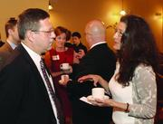 Jim Owens of S&T Bank and CIndy Alvear of Julian Gray Associates.